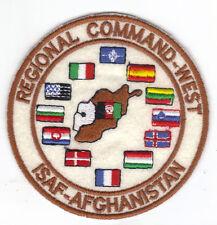 [Patch] REGIONAL COMMAND WEST ISAF AFGHANISTAN cm 9,5 toppa ricamata ricamo -056