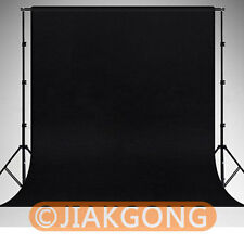 Black Photography Chromakey Backdrop 1.8m x 2.8m 100% Cotton Muslin background
