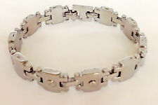 Men's Large Shinny Stainless Steel  Bracelet with Screw Design 9 inches Long