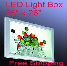 "A1 Led Aluminum Frame Light Box 36""x 26"" Poster Backlit Display LightBox Sign"