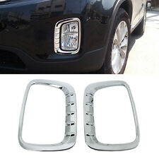Chrome Fog Lamp Cover Garnish Molding Trim C477 For KIA 2013-2014 Sorento R