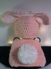 Easter bunny baby hats ebay new newborn baby girl floppy ear bunny hat diaper cover crochet easter gift negle Gallery