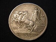 1914 Italien 5 Lira , Vittorio Emanuele III , Italia SILBER