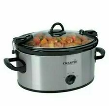 Crock-Pot Cook & Carry 6 qt Stainless/Black Slow Cooker New !