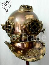 Antique Copper Diving Helmet Us Navy Mark V Deep Sea Marine Divers Scuba Morse
