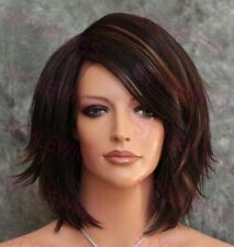 Dark Brown/Blonde Mix Short Curly Heat OK Synthetic Lace Front Wig ABGE 4/27