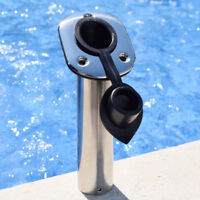 1x Boat Stainless Steel Equip Fishing Holder 30° Flush Mount Casting Rod Holder