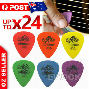 6X / 12X / 24X Standard Plectrums Mixed Pro Gauges Guitar Picks AU Stock