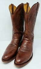 OLD WEST Men's Size 10 D Brown Leather Western Cowboy Jama Boots #5217