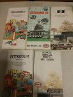 vintage Texaco Road Maps Lot Of 5 Pre Owned