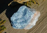 Blue Calcite Rough Chakra Stone 247g to Calm the Mind & Body for Energy Healing