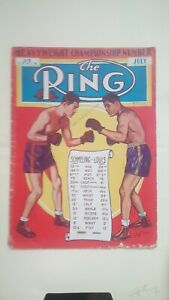 Vintage Ring Boxing Magazine. July 1938. Louis Schmeling Tale Of The Tape.
