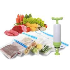 Bolsas de comida sellado al vacío con bomba de mano de Sellado Juego de 5 piezas de almacenamiento de alimentos frescos