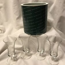 Vintage Set of 4 DANSK Cordial Glasses original round box Barware cocktail