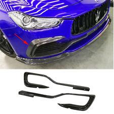 Carbon Fiber Front Bumper Lip Splitters for Maserati Ghibli Base Sedan 2014-2017