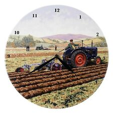 Border Fine Arts Vintage Farm Tractor Clock