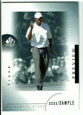 2001 Tiger Woods Sp Authentic Sample Rookie Card  Rare