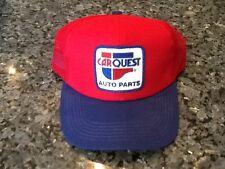 Vintage Carquest Car Quest Auto Parts Stores Patch Trucker Mesh Snap Red ! Retr