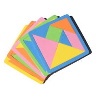 1 set Rainbow Color EVA Tangram DIY Foam Puzzle Kids Brain Educational ToysHFQA