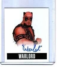 Warlord W1 2014 Leaf Originals Wrestling Authentic On Card Autograph WWE DWC