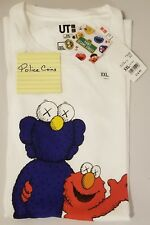 UNIQLO KAWS X SESAME STREET GRAPHIC T-SHIRT ELMO AND BFF WHITE SIZE XXL
