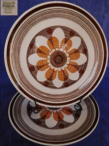 American Contemporary Fantasio DINNER PLATE 1 of 2 available Brown & Orange