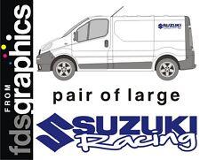 Ein paar von groß (700mm) Suzuki Racing van sticker/aufkleber