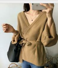 Women's Fashion Cardigan Sweater Loose Lace Coat V-neck Chic Wild Wool Clothes W