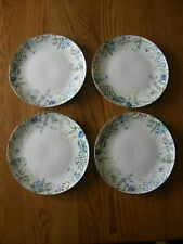 Set of 4:Williams Sonoma Floral Meadow Wreath Dinner Plates-Easter/Spring-New