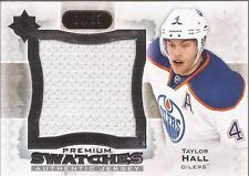 TAYLOR HALL 2013-14 UD Ultimate Collection Premium Swatches Jersey #/35 Oilers