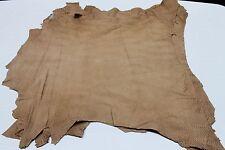 Italian Lambskin leather skins hides TAN SAND SNAKE CUT  20sqf #A1967
