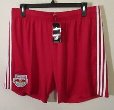 NWT Adidas New York Red Bulls Mens Replica Shorts 2XL Red/White MSRP$40