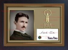 Nikola Tesla signed autograph photo picture Framed print