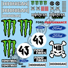 1/10 K Block Ford Mustang Hoonicorn Livery Decals