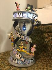 Disney Mickey Mouse & Friends Fab 5 Movie Film Lighted Hourglass Snowglobe w/box
