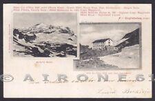 VERCELLI VALSESIA MONTE ROSA 76 HOTEL ALBERGHI GUGLIELMINA Cartolina viag 1901