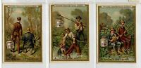 Full Set, Liebig (OXO) S203, Story of Two Anglers (X6) 1887 VG-EX (Gu605-322)
