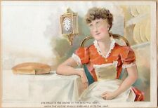 Hold to Light Victorian Trade Card-Thepure Baking Powder-Eyes & Product Appear