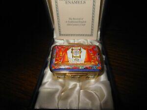HALCYON DAYS ENAMEL MUSIC BOX METROPOLITAN OPERA UNA FURTIVA LAGRIMA LTD 64/750