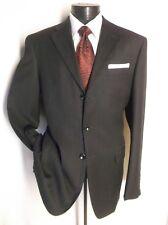 """Burberry London Suit  Black /Maroon Striped 3Button 43R Pants 38 """" x 32 """""""