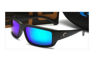 Costa Black frame blue film Polarized Men's Sunglasses CL 10 OGMP