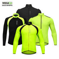 Classic Cycling Jerseys Reflective Long sleeve Jacket Bicycle Shirt Bike Coat