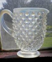 Fenton French Opalescent Hobnail Creamer Individual Vintage Small 389