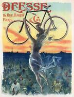 Deesse 1897 Vintage French Bicycle Poster Rolled Canvas Giclee Print 24x30 in.