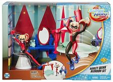 DC Super Hero Girls Harley Quinn 6 In Doll Action Figure Bedroom Set Playset