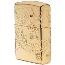 Zippo 29265, Armor, Dragon, Multi-Cut/Epoxy Inlay,High Polish Gold Plate Lighter