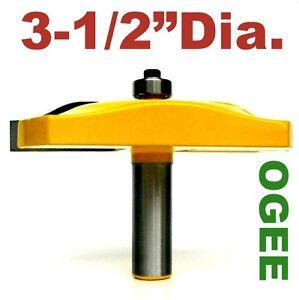 "1pc 1/2 shank 3-1/2"" Diameter Roman Ogee Raised Panel Router Bit S"