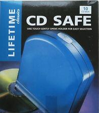 LIFETIME ONE TOUCH CD SAFE BOX CD DVD CASE HOLDER 10 Discs NEW