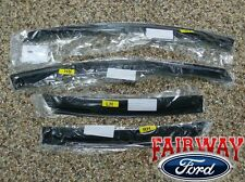 11 thru 19 Fiesta 4-Door Sedan OEM Ford Smoke Side Window Deflector Kit 4-piece