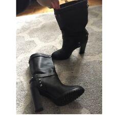 Women's Black Polo Ralph Lauren Studded Leather Boots